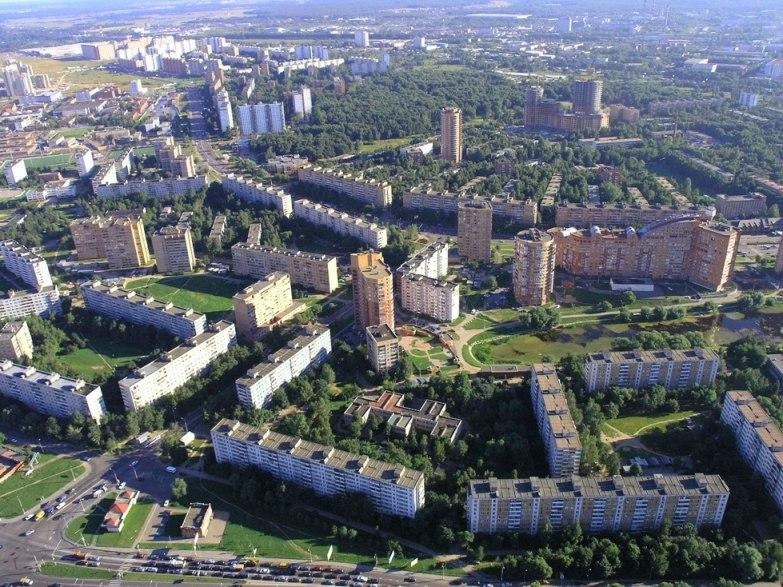 Панорама Химок с воздуха