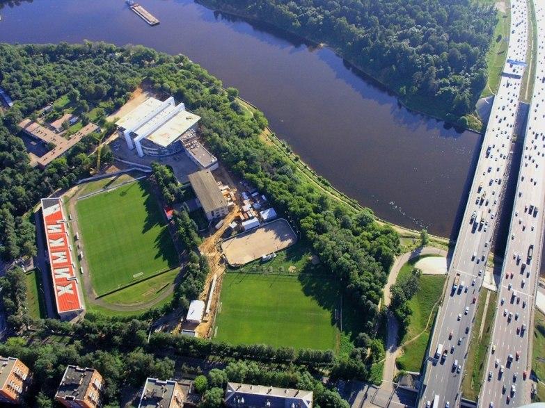 Вид на стадион с воздуха