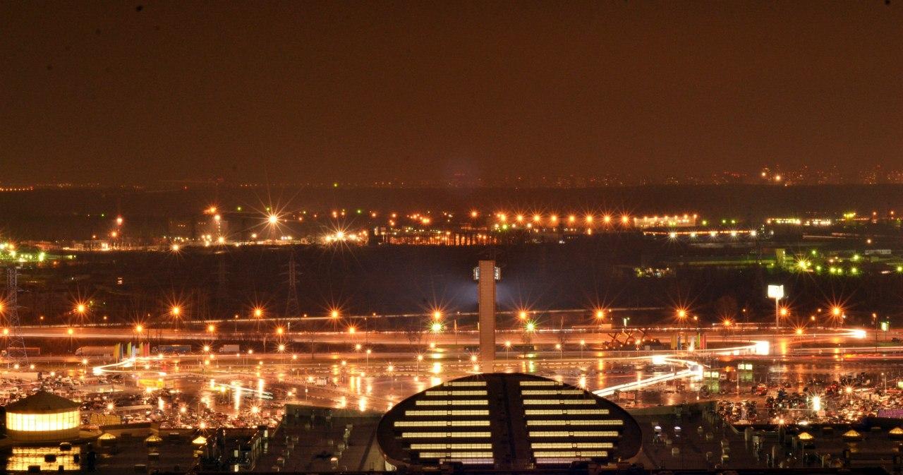 Панорама ночных Химок
